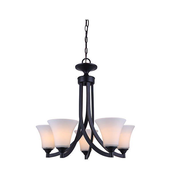 Rue 5-Light Rubbed Antique Bronze Chandelier (Optional)