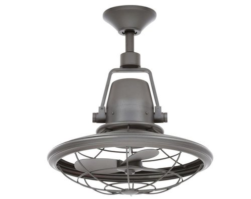"Bentley II 18"" Natural Iron Oscillating Ceiling Fan"