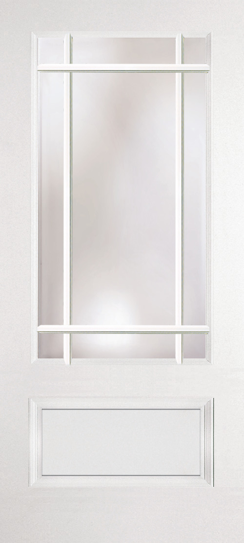 Prairie Style ¾ Length Single Lite Door Glass: Clear
