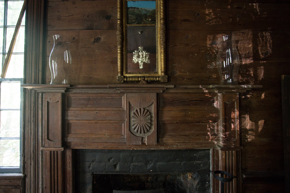 devils pond house_dining room_mantel.jpg