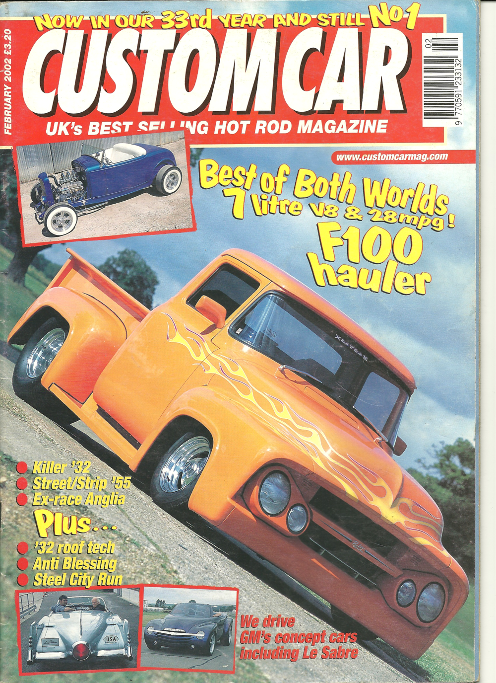 Cover of Custom Car - the UK's Best selling Hot Rod Magazine - February 2002