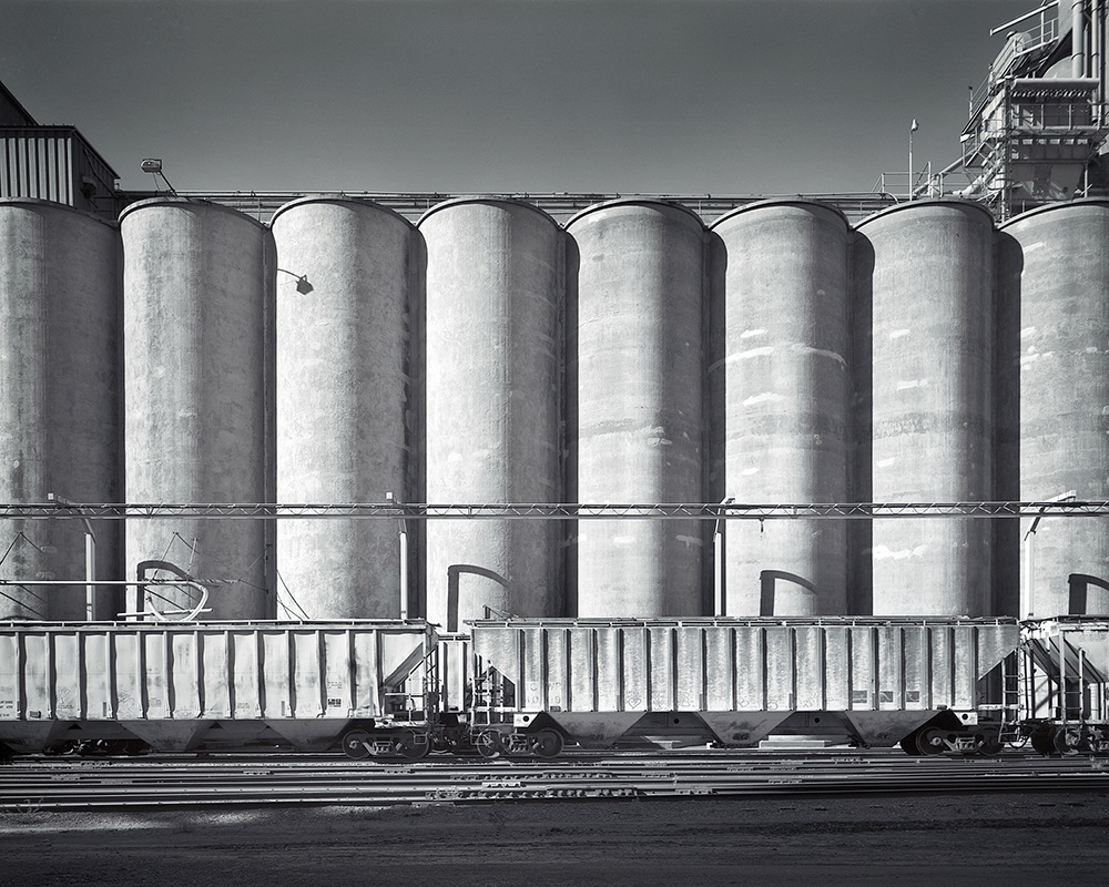 "38th Street East and Hiawatha Ave. Grain Elevators, Minneapolis, MN - 48"" x 36"""