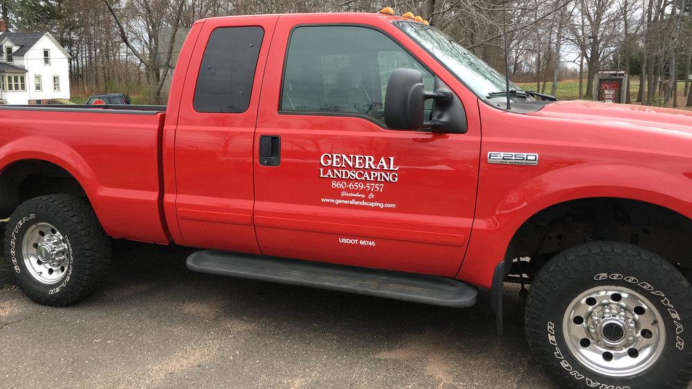 General Landscaping Door Lettering