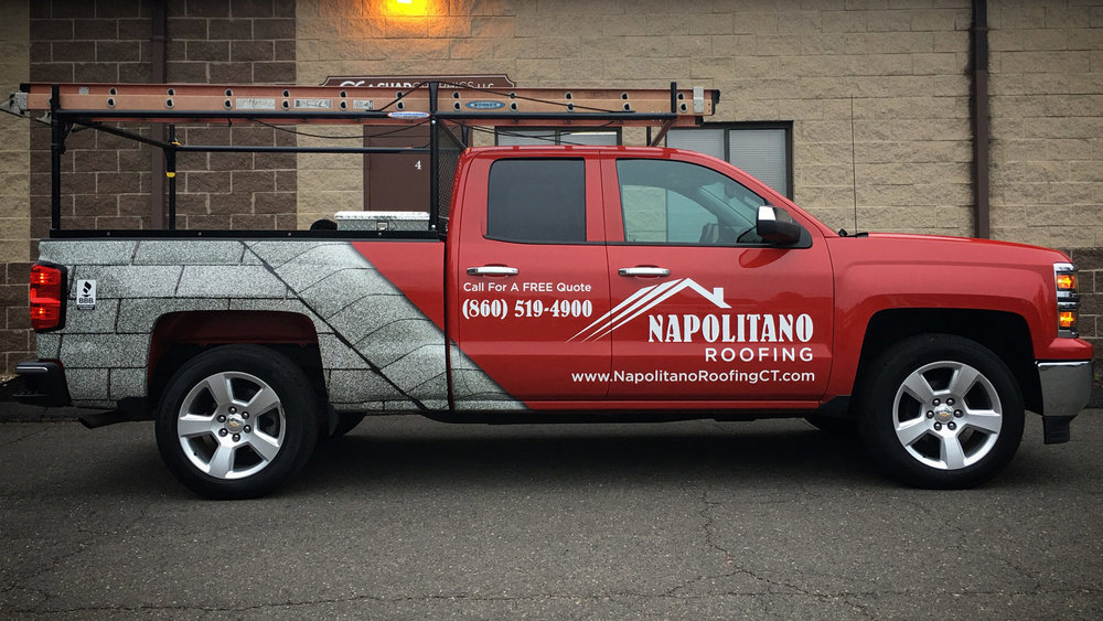 Napolitano Roofing Truck