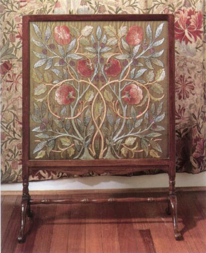 Fireplace Screen designed by Philip  Webb for Morris & Co.