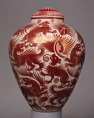 Vase with cover, 1888–98 William De Morgan