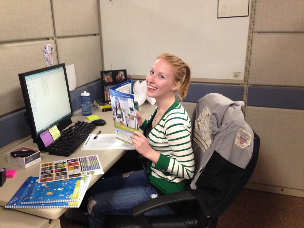 Emily hard at work!
