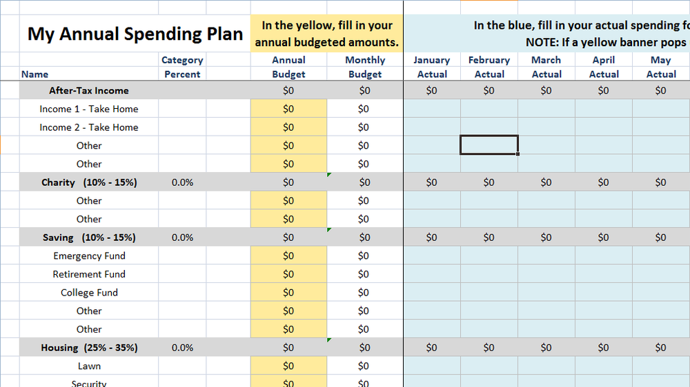 Budget Planner - It can be hard to get a budget going for your household, so we created a nifty tool to help get that habit started!