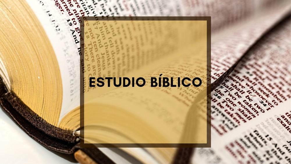 Estudio Bíblico reunir cada Viernes