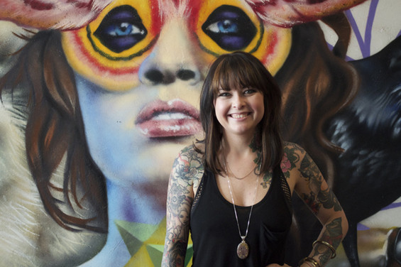 Portrait of Chelsea Rhea (Tattoo Artist) for an interview feature for ARTICULATE ( click here to view it in action )