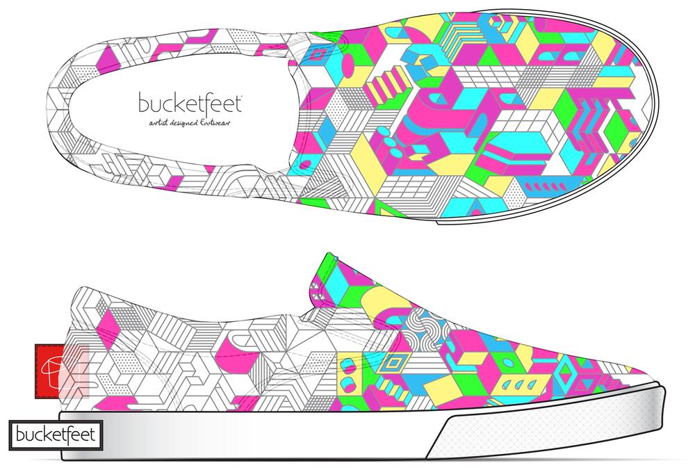 Bucket Feet shoe concept #thenewcanvas