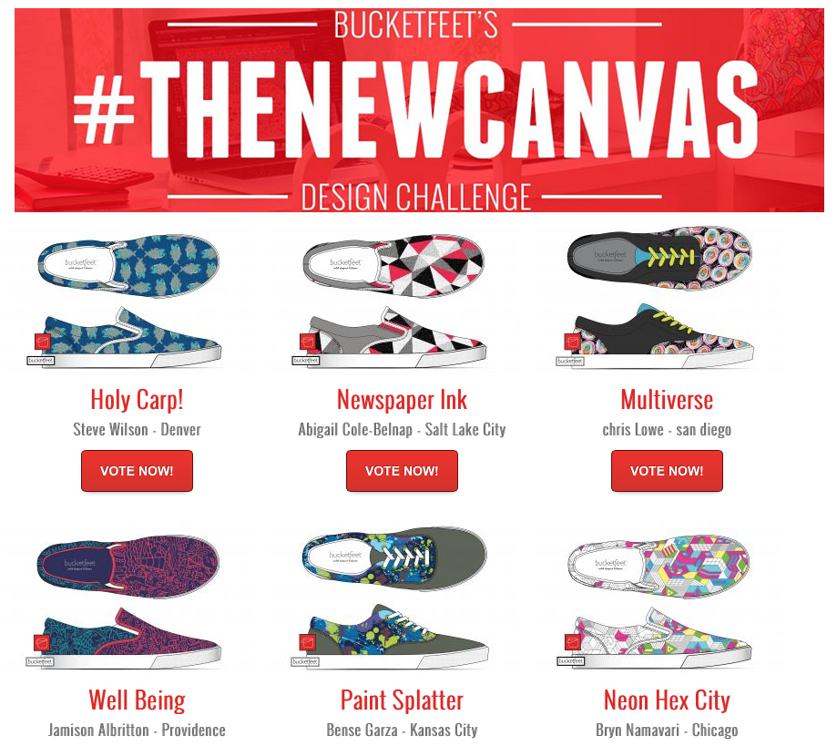 BucketFeet voting page