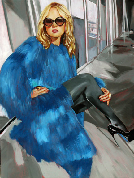 Rachel Zoe | 2010, 32 in x 24 in Oil on Linen