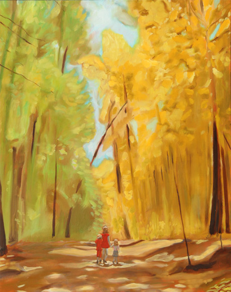 Yosemite Walk | 2008, 24in x 30in Oil on Linen