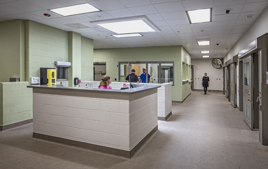 Nursing Station and Officers Station Overlooking Patient Rooms