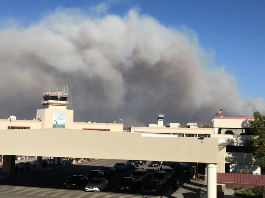 Is the airport on fire?