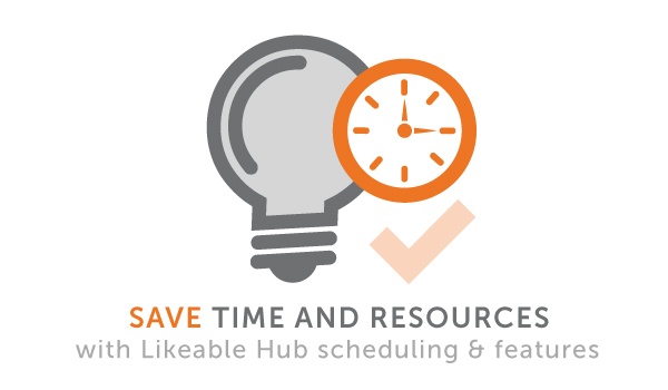 Simplified social media management means up to 10 hours saved per week for your business.