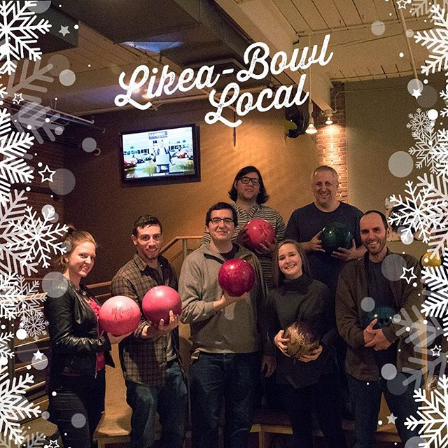 Likea-Bowl Local. 🎳 Our Portland team had a great holiday party at @baysidebowl! #LikeableLocal #LikeableWorld