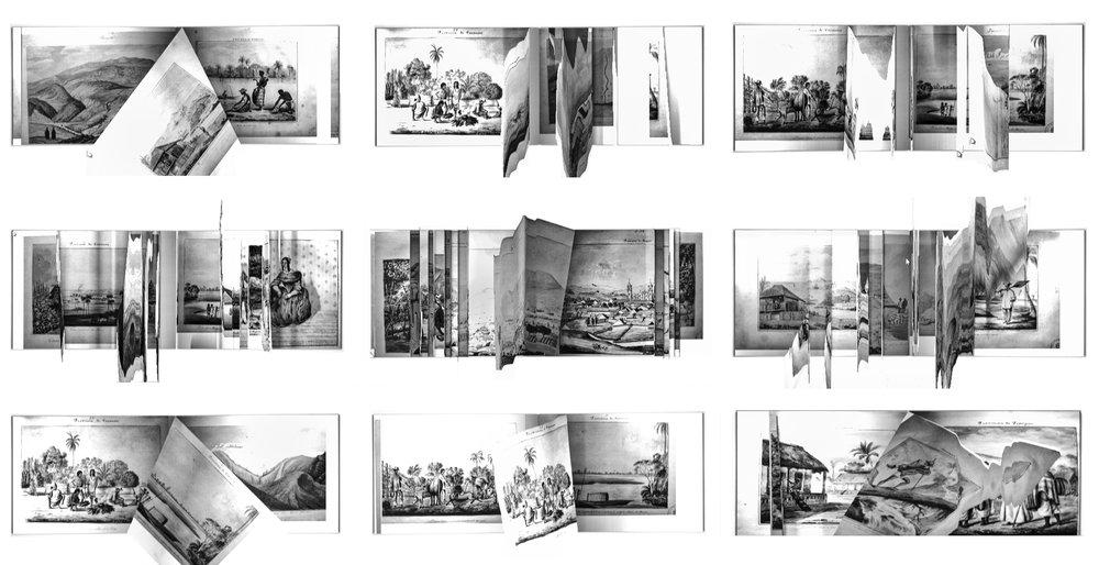 PAUSA INTER COROGRAFICA, 2013 fotografia 9 piezas de 32 x 64 cm. (total: 96 x 192 cm.)