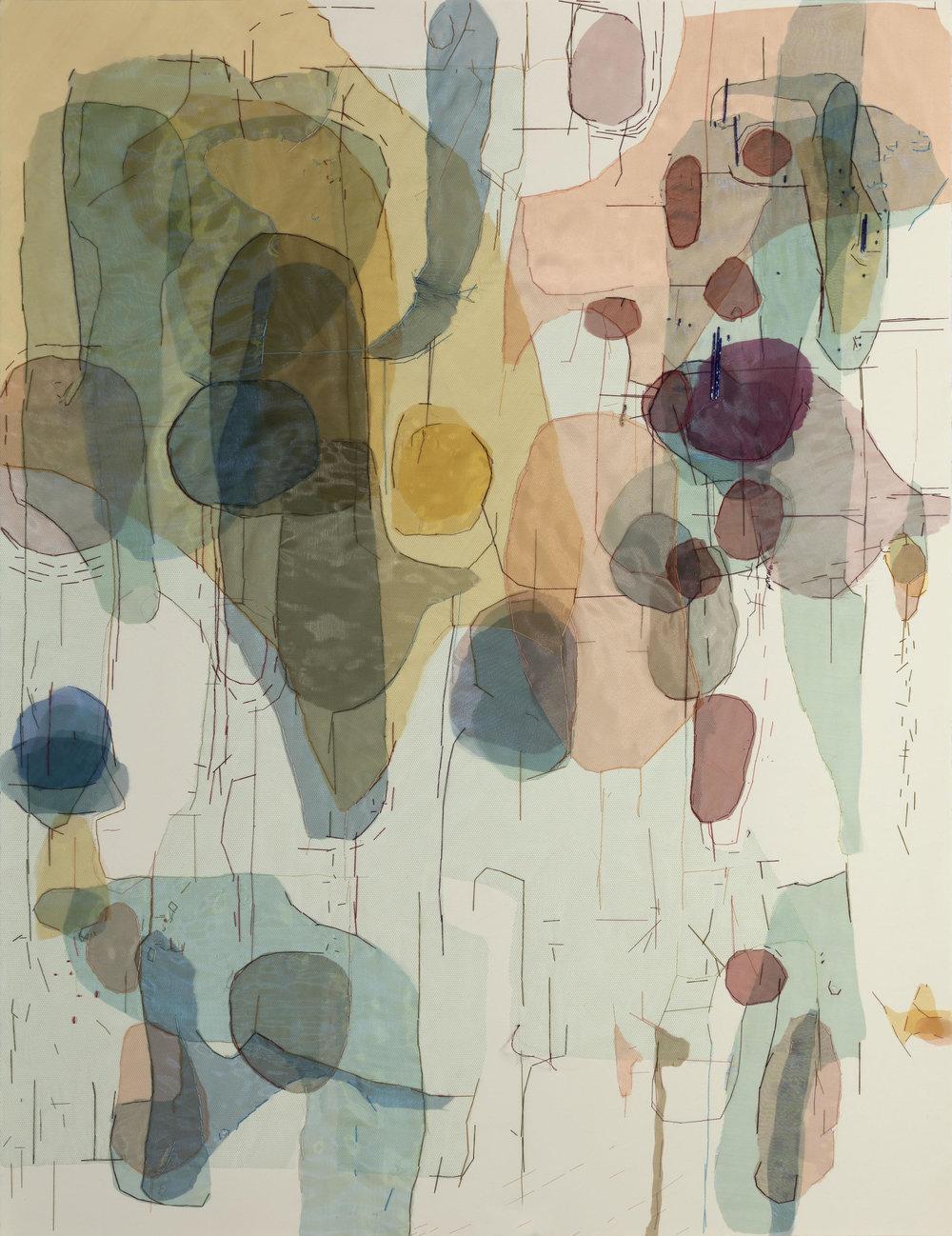 HEMATOMA GRANDE 3, 2018 Bordado sobre papel 110 x 75 cm. 43.5 x 29.5 in.