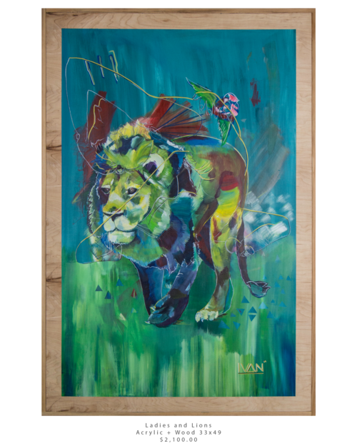 Ladie and Lions  33x49.png