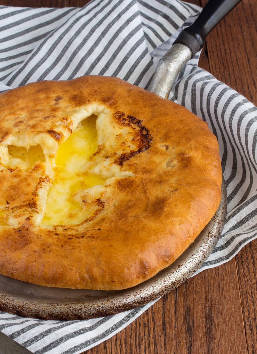 Khachapuri in the pan. Cheese Khachapuri: A Step-by-Step Recipe 34