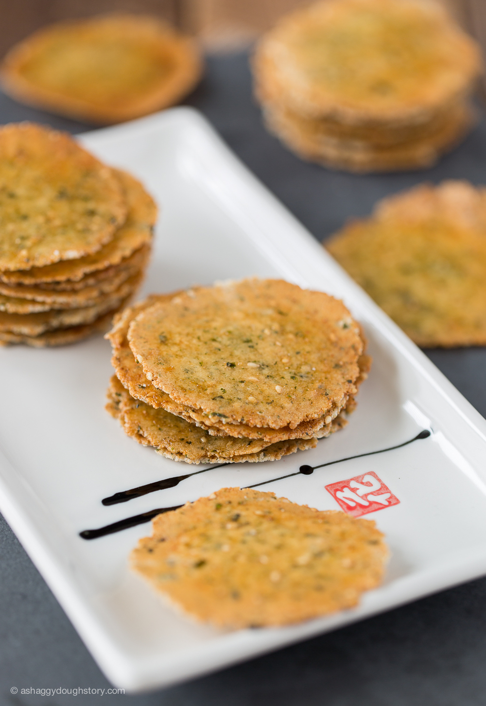 Asian rice crackers