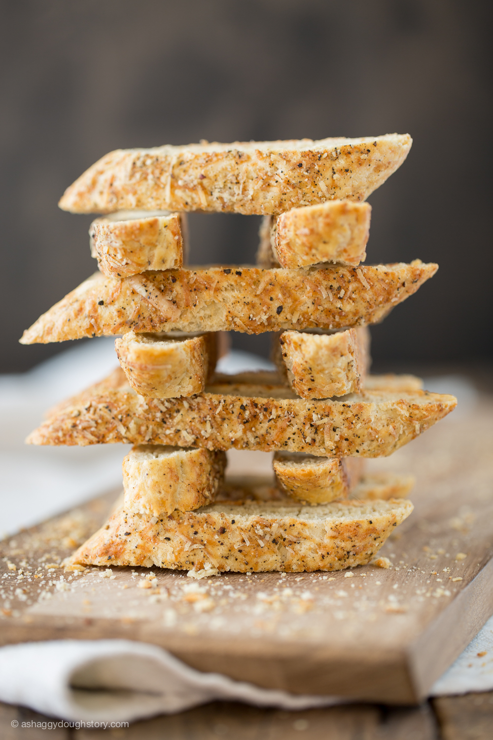 A biscotti bonus—play with your food. It's Biscotti Jenga!