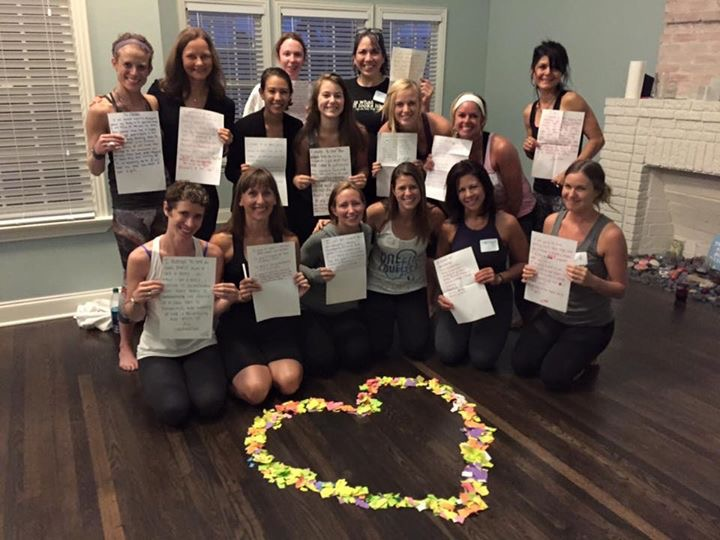 Jen (2nd row, left) trained to be an Inner Beauty Shop facilitator with Dr. Melody Moore, founder of The Embody Love Movement.