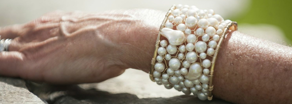 Lace cuffs can be made in many different gemstones and pearls or combinations of both.  They are tantalizingly elegant.
