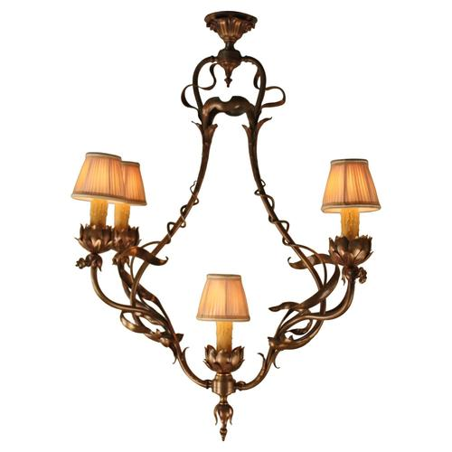 French 19th century bronze art nouveau chandelier lu91363543162 french 19th century bronze art nouveau chandelier lu91363543162 aloadofball Image collections
