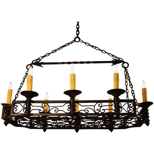 French 1930s wrought iron chandelier lu91368470513 artisan lamp french 1930s wrought iron chandelier lu91368470513 mozeypictures Choice Image