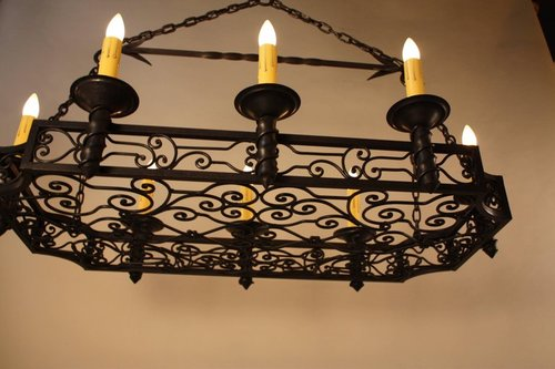 French 1930s wrought iron chandelier lu91368470513 artisan lamp french 1930s wrought iron chandelier lu91368470513 aloadofball Gallery