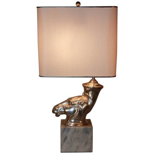 Silver sculpture rhyton vase table lamp lu91369011691 artisan lamp silver sculpture rhyton vase table lamp lu91369011691 aloadofball Images