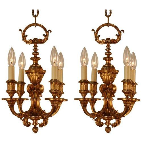 Pair of 1920s french bronze chandeliers lu91369149901 artisan lamp pair of 1920s french bronze chandeliers lu91369149901 aloadofball Gallery