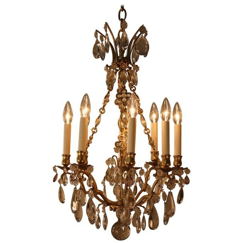 French 1930s crystal and bronze chandelier lu91369440233 artisan french 1930s crystal and bronze chandelier lu91369440233 mozeypictures Gallery