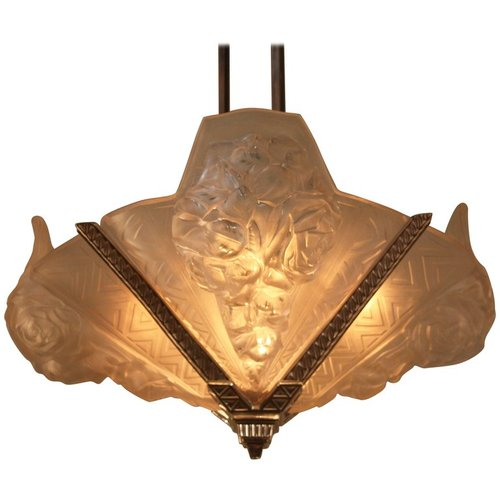 French art deco chandelier by verdun lu91369892331 artisan lamp french art deco chandelier by verdun lu91369892331 aloadofball Images