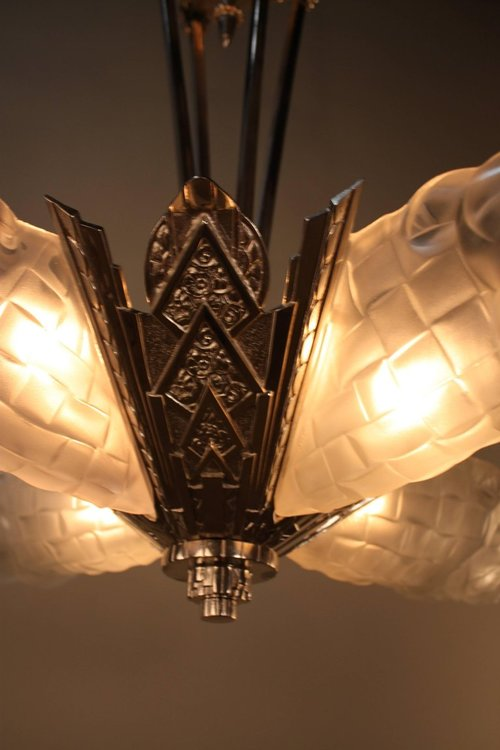 French art deco chandelier by degu lu91369964923 artisan lamp french art deco chandelier by degu lu91369964923 aloadofball Images