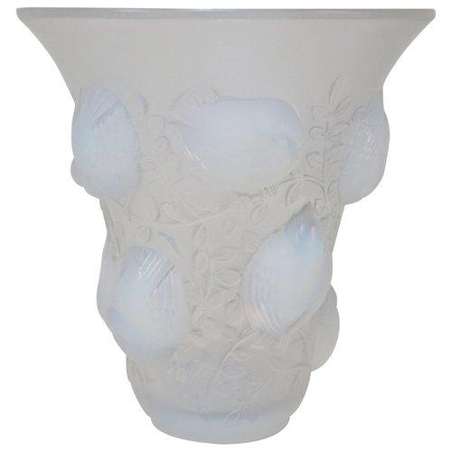 Ren Lalique Opalescent Glass Vase Lu913611231661 Artisan Lamp