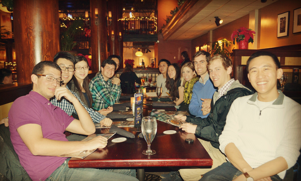 Lively lab Christmas dinner 2015