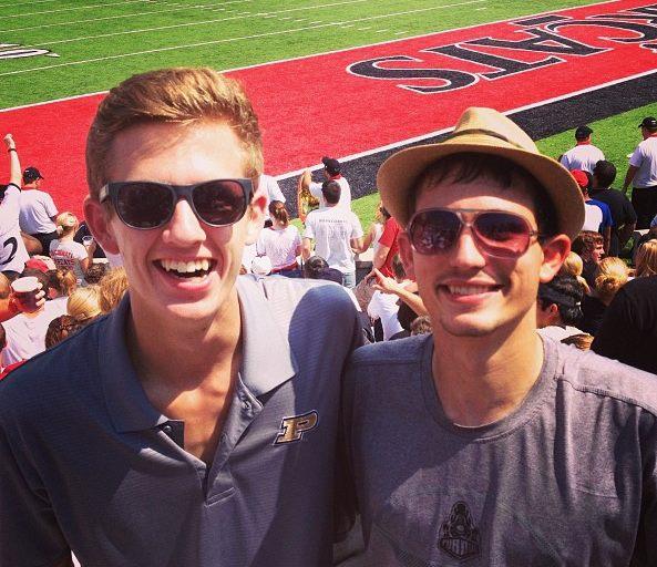 Nick & I at UC vs. Purdue Football Programs at Nippert Stadium in Cincinnati, OH. August 2014