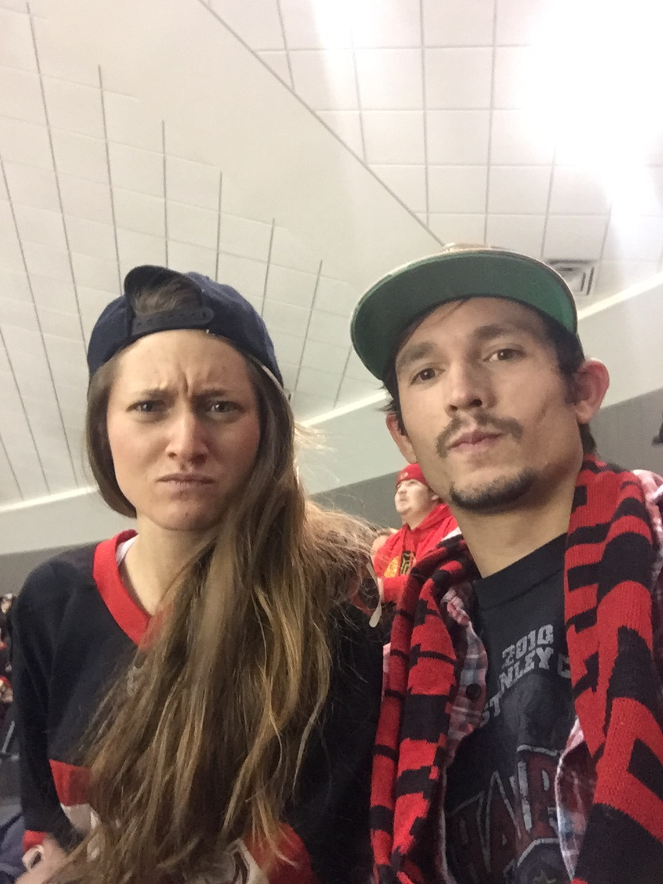 Mean Muggin' with our SnapBacks and Hawks gear!
