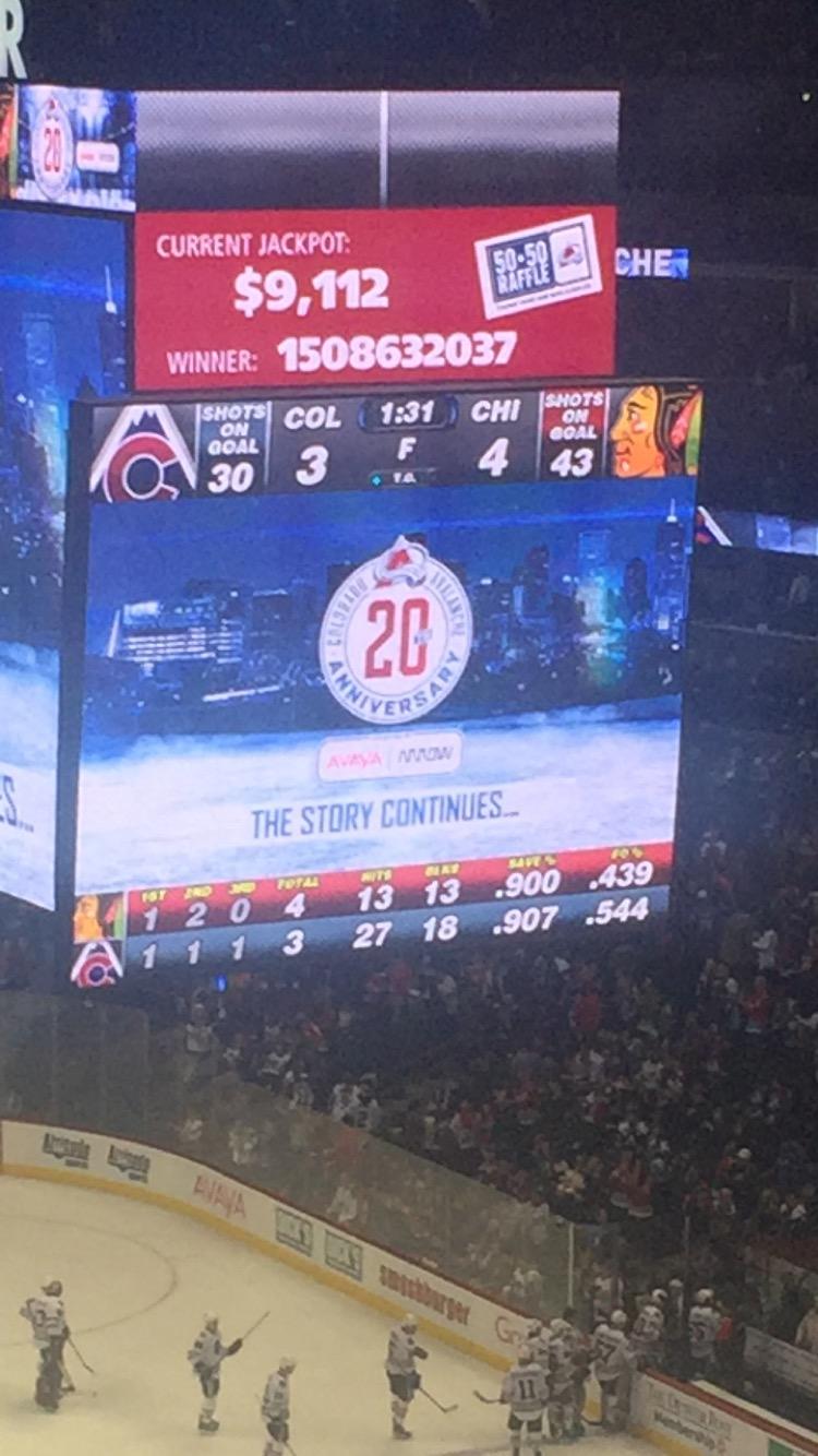 Final Score: Hawks 4 Avalanche 3 in Overtime!