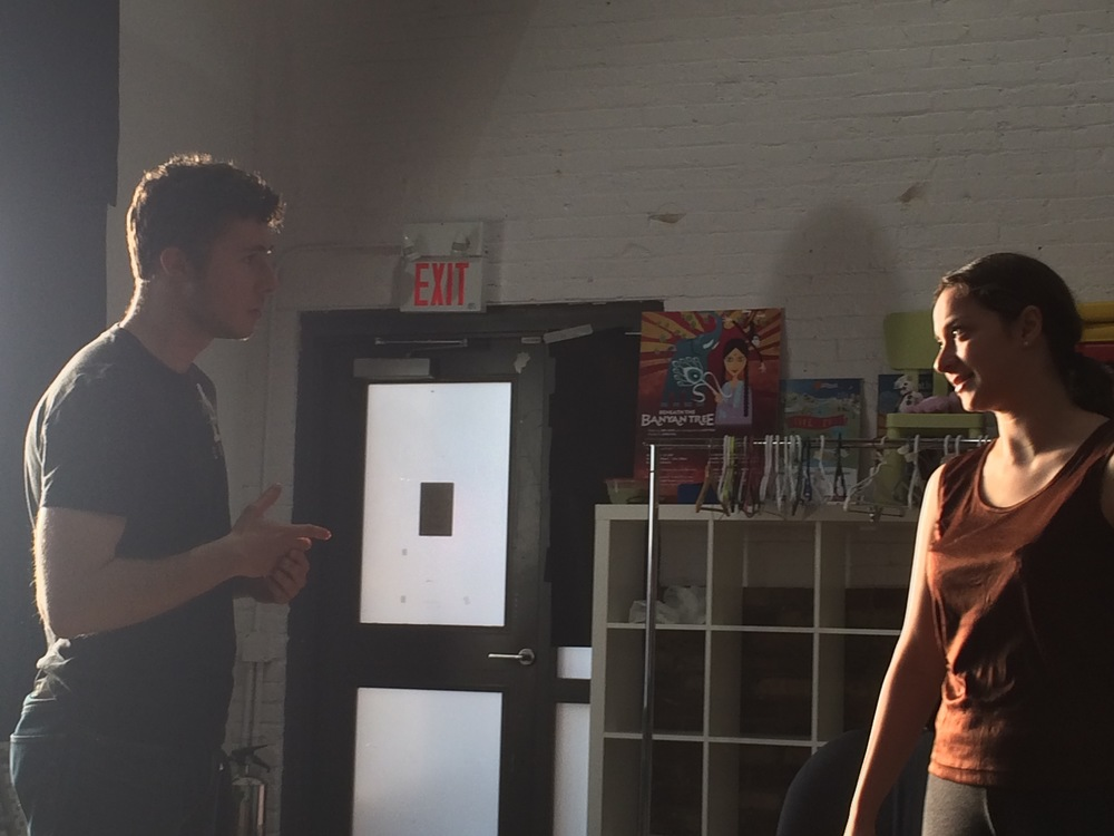 Tyler (left) and Jada (right) during a particularly intense scene, at a moment of intense light.