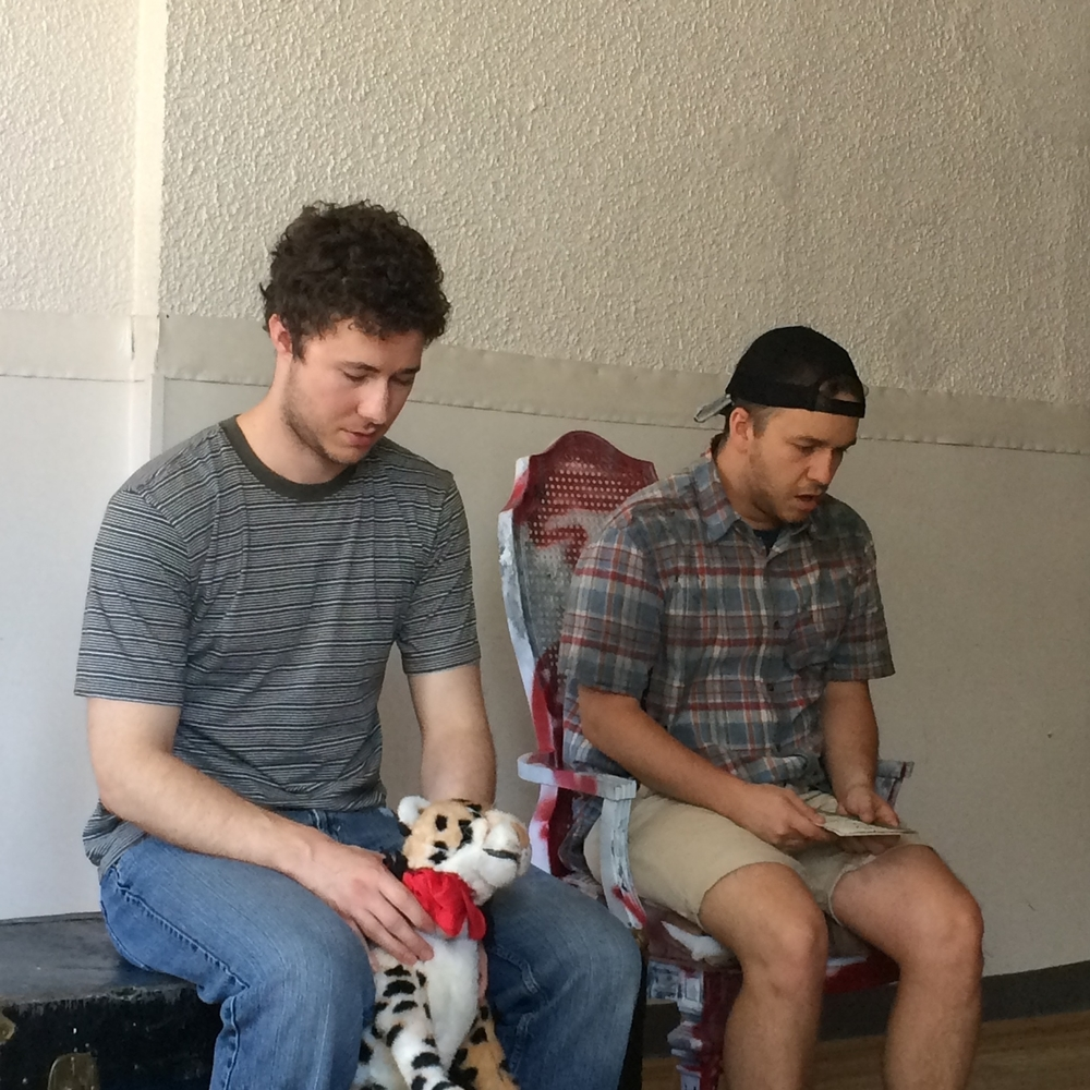 Tyler (Gordon) and Nick (Edgar) during one of our run-throughs.