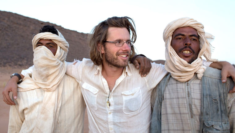 Trevor with Berber nomads in Morocco