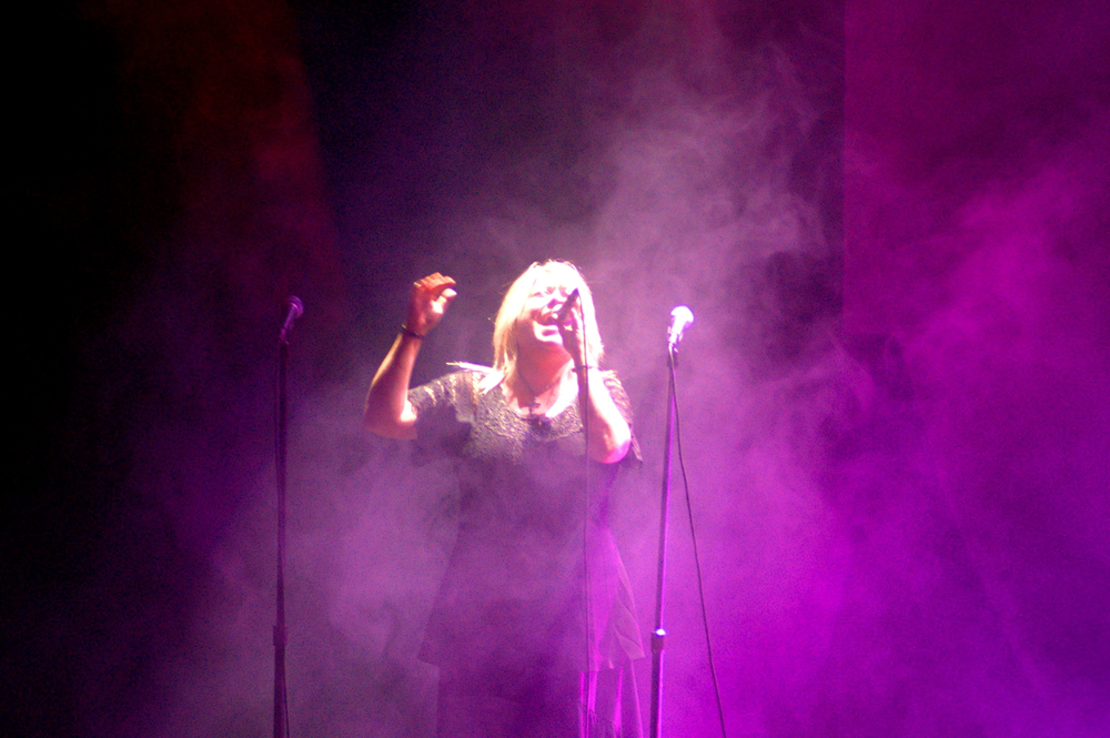 "Pamela performing ""Great Gig in the Sky""  as part of ""Floydian Slip"" - Pink Floyd Tribute at the Paramount Theater."
