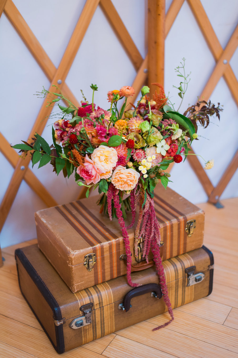 Floral Design: Buckeye Blooms and Passiflora Studio   Props: Simple Pleasures and Grantham Antiques  Photo: Connection Photography