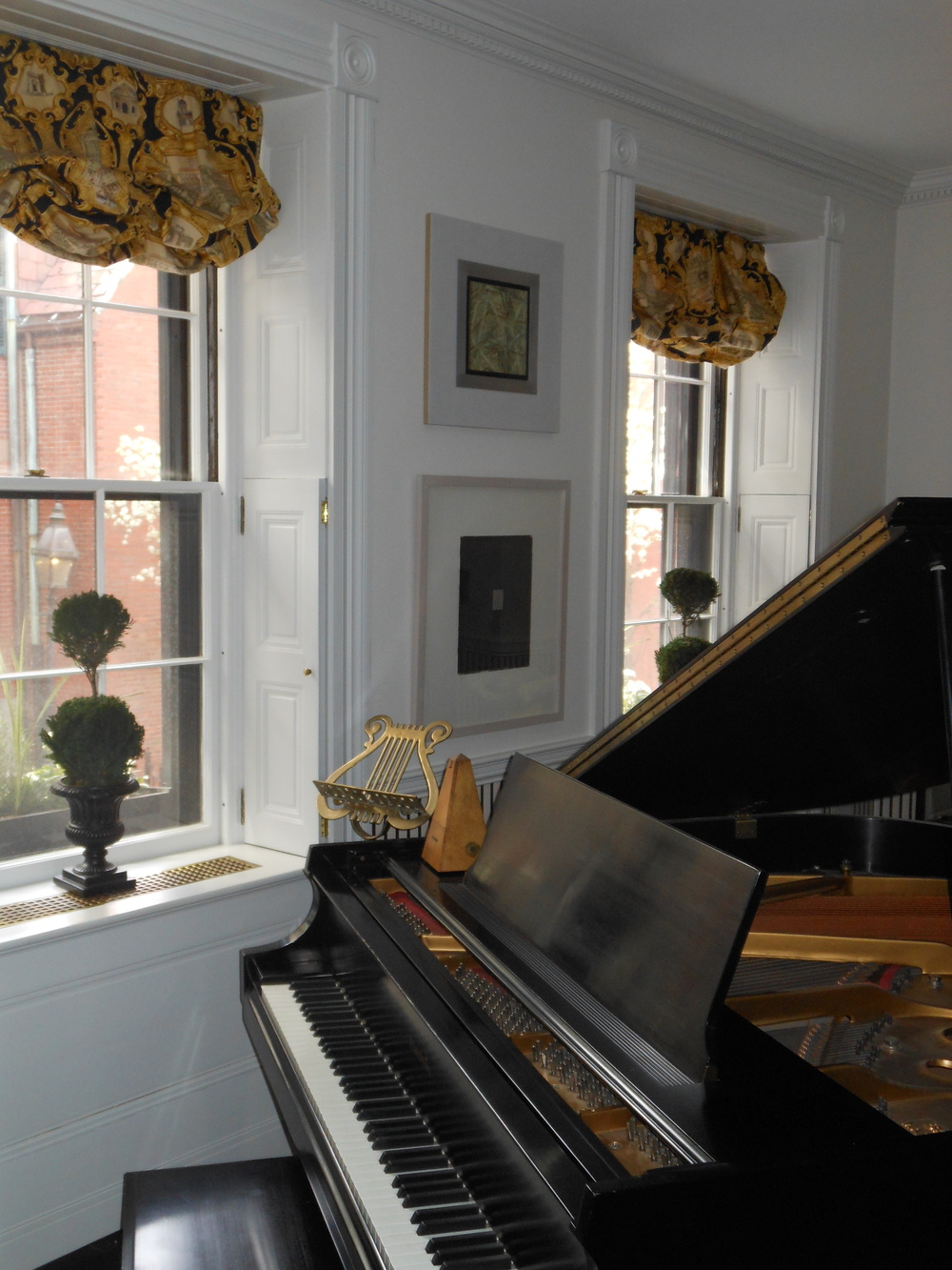 Music room, Beacon Hill residence
