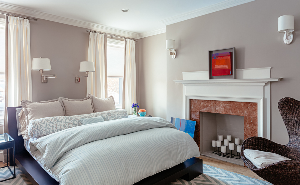 Brookline residence Painting by ESTHER LEVY Photography:  Joseph Ferraro